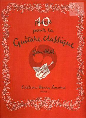 Absil 10 Pieces Caracteristiques Op.123 Guitare