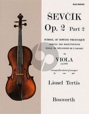 Sevcik School of Bowing Technique Op.2 Vol.2 Viola (Lionel Tertis)