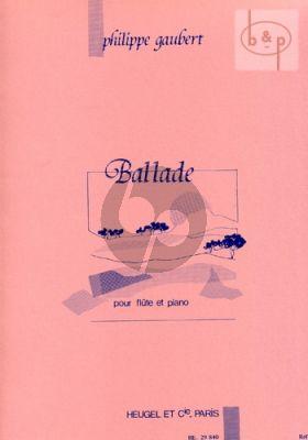Gaubert Ballade Flute-Piano
