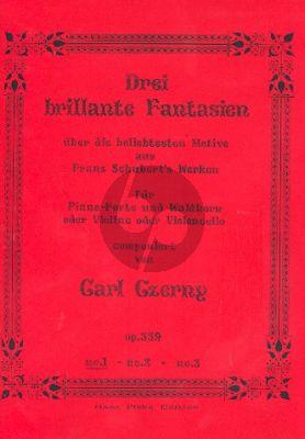 Czerny 3 Brillante Fantasien Op.339 No.1 Waldhorn und Klavier (oder Violine und Violoncello) (Über die beliebtesten Melodien von Franz Schubert)