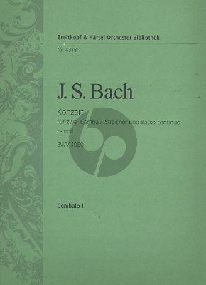 Konzert c-moll BWV 1060 2 Cembali-Streicher-Bc Cembalo 1 Stimme