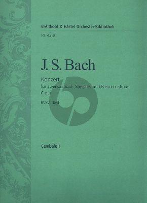 Bach Konzert C-dur BWV 1061 2 Cembali-Streicher-Bc Cembalo 1 Stimme