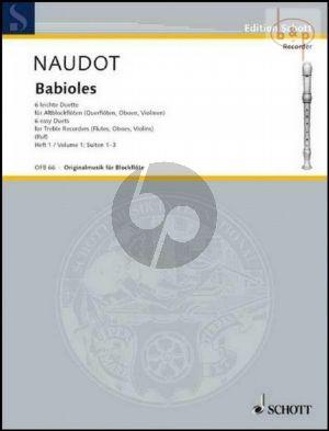Babioles Op.10 (6 Easy Duets) Vol.1 (Suites 1 - 2 - 3) (2 Treble Rec./Flutes/Oboes/Violins)