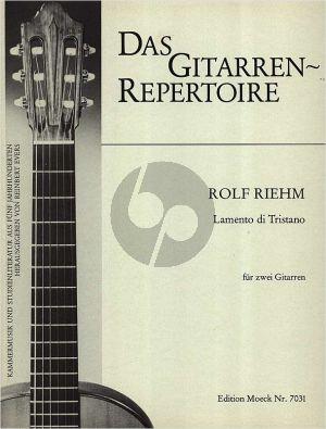 Riehm Lamento di Tristano 2 Gitarren