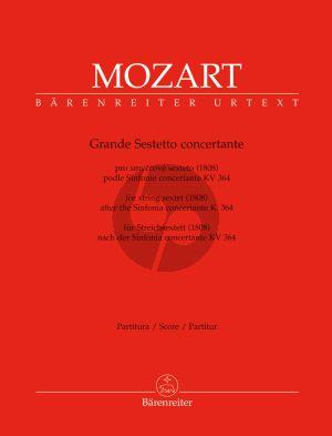 Mozart Grande Sestetto Concertante after Sinfonia Concertante KV 364 (2 Vi.- 2 Va.- 2Vc.[Bass]) (Parts) (Christopher Hogwood)