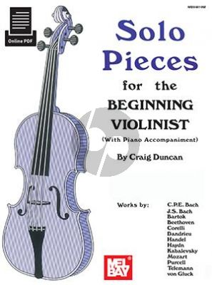 Solo Pieces for the Beginning Violinist (Violin and Piano) (selected by Craig Duncan)