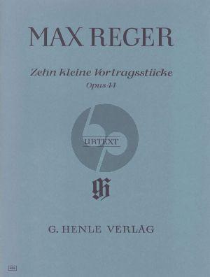 Reger 10 Kleine Vortragstucke Op.44 (Henle-Urtext)