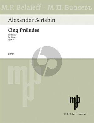 Scriabin 5 Preludes Op. 16 Klavier