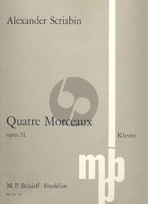 Scriabin 4 Morceaux Op.51 Klavier