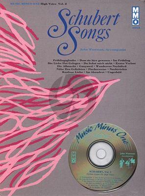 Schubert Songs Vol.2 High Voice (German Lieder) (Bk-Cd) (MMO)