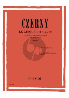 Czerny Les Cing Doigts Op.777 Piano (edited by Piero Rattalino)