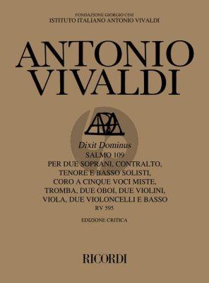 Vivaldi Dixit Dominus (Psalm 109) RV 595 Soli-Choir-Chamber Orchestra Score (Michael Talbot)