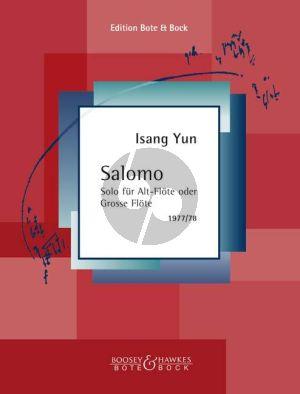 Yun Salomo Altflöte solo (Aus der Weise Mann)