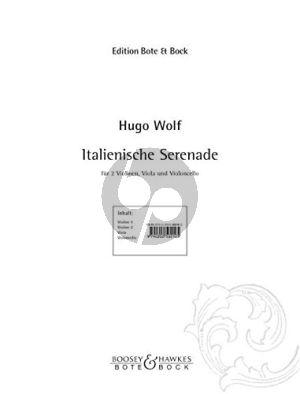 Wolf Italienische Serenade String Quartet (Parts)