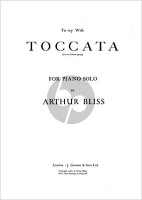 Bliss Toccata for Piano (1925)