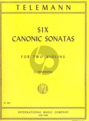 Telemann 6 Canonic Sonatas TWV 40:118-123 2 Violins (Herrman)