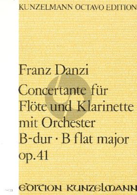 Danzi Concertante B-Dur Opus 41 Flote-Klarinette-Orchester (Partitur) (Dieter H. Foerster)