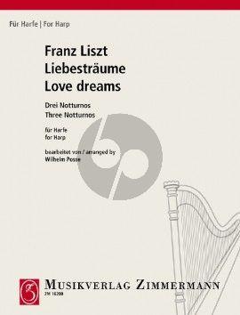 Liszt Liebestraume Harfe (3 Notturnos) (transcr. Wilhelm Posse)