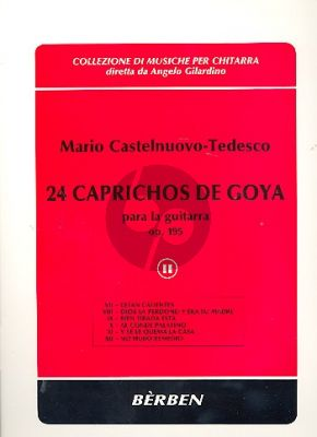 24 Caprichos de Goya Op.195 Vol.2 No.7 - 12) Guitar
