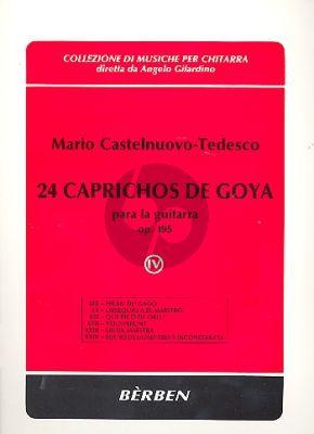Castelnuovo-tedesco 24 Caprichos de Goya Op.195 Vol.4 (No.19-24) Guitar (Angelo Gilardino)
