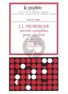 Froberger Oeuvres Complètes de Clavecin Tome 1 Vol.2 (Howard Schott) (Le Pupitre)