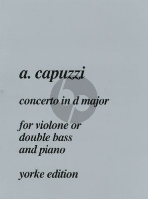 Capuzzi Concerto D-major Double Bass-Piano