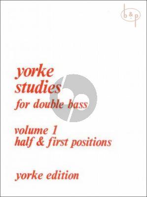Yorke Studies Vol.1 for Double Bass