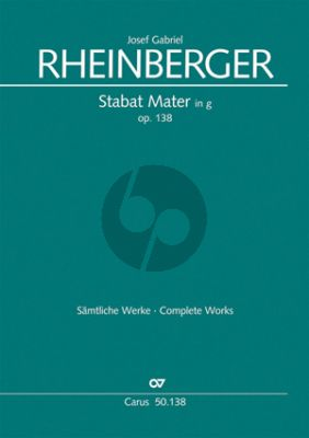 Rheinberger Stabat Mater g-minor Op.138 (1884) (SATB-Organ[2 Vi.- Va.-Vc.-Bass opt.]) (Score) (Theill)