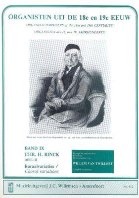 Organisten uit de 18e en 19e Eeuw Vol.9 Rinck Koraalvariaties Vol.2
