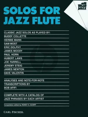 Solos for Jazz Flute (edited by Ronny S. Schiff)