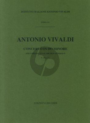 Vivaldi Concerto c minor F.III n.1 Violoncello-Archi-Cembalo