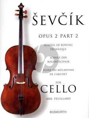 Sevcik School of Bowing Technique Op.2 Vol.2 for Cello (Feuillard)
