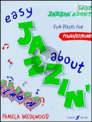 Easy Jazzin About piano/keyboard book-CD