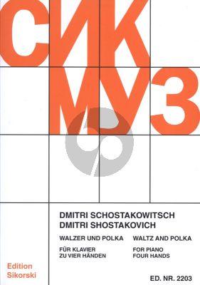 "Shostakovich Waltz op.95 and Polka piano 4 Hands (Filmmusic ""Unity"") (Balletsuite no.2)"