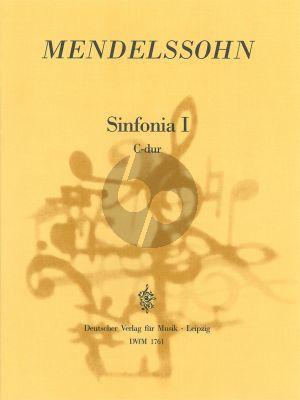 Mendelssohn Sinfonia No. 1 C-Dur MWV N 1 Streichorchester (Partitur) (Hellmuth Christian Wolff)