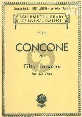 50 Lessons Op.9 Low Voice
