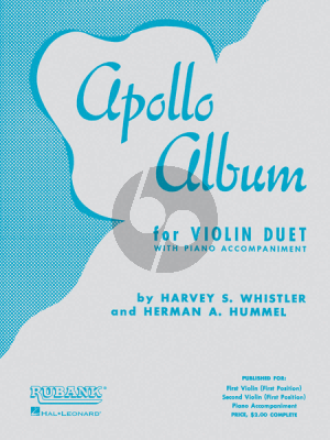 Album Apollo Album for 2 Violins and Piano (Arranged by Harvey S. Whistler and Herman Hummel)