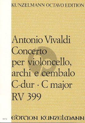 Vivaldi Konzert C-dur RV 399 Violoncello-Streicher Bc Partitur (Istvan Mariassy)