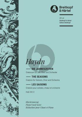 Haydn Die Jahreszeiten (Seasons) (Hob.XXI:3) (Soli-Choir-Orch.) (Vocal Score) (P.Klengel) (germ./engl./fr.) (Breitkopf)