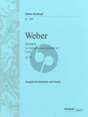 Weber Konzert No.1 Op.73 (J.114) f-moll Klarinette-Klavier (Hauswald)