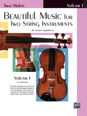 Beautiful Music for Two String Instruments Vol .1 2 Violas