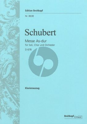 Schubert Messe As-dur D.678 Soli-Chor-Orch.-Orgel Klavierauszug