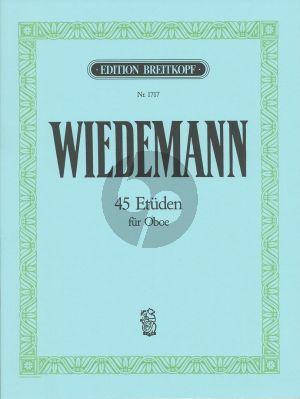 Wiedemann 45 Etuden für Oboe (Breitkopf)