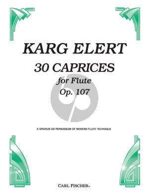 Karg-Elert 30 Caprices (Studies) Op.107 Flute