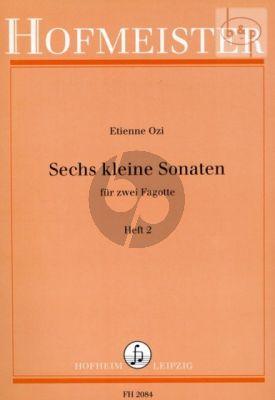 Ozi 6 Kleine Sonaten Vol.2 2 Fagotte (Angelhofer)