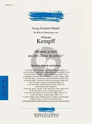 Handel Menuett g-moll aus der Suite de pièces Klavier (transcr. Wilhelm Kempff)