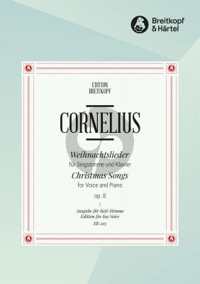 Cornelius Weihnachtslieder Op.8 Tief (Deutsch/English)