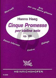 5 Promesses Op. 38 Violine solo