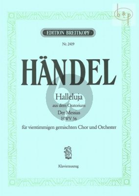 Halleluja from Messiah HWV 56 (SATB-Orch.) (Vocal Score) (arr. W.A.Mozart)