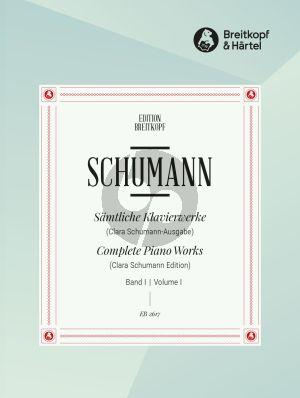 Schumann Klavierwerke Vol.1 (Clara Schumann) (herausgegeben von Wilhelm Kempff)
